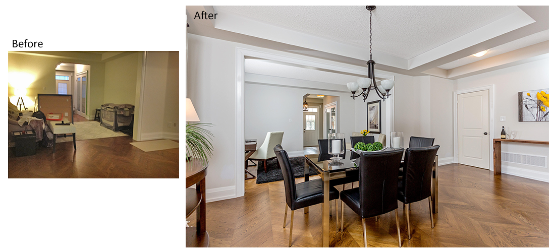 Home staging portfolio the staging group for Staging a house before and after