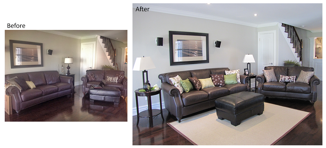 Home staging portfolio the staging group for Home staging before and after